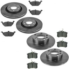 98-02 VW Jetta Golf Beetle Front & Rear Semi Metallic Pads & Rotor Kit