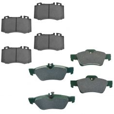 03-06 CL500,03-05 E500,06 S350,04-06 S430 Front & Rear Ceramic Brake Pad Set