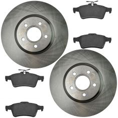 13-16 C-Max,13-16 Escape,14-16 Transit Connect Rear Ceramic Disc Brake & Rotor Kit