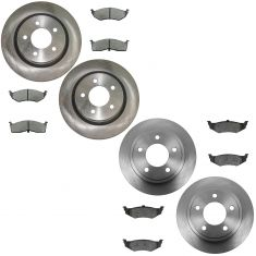 99-04 300M; 99-01 LH; 98-04 Concorde, Intrepid w/ Perf Brakes Front & Rear Metallic Pad Rotor Kit