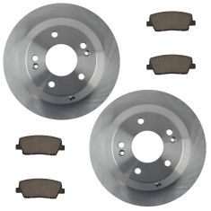 10-14 Santa Fe,11-14 Sorento Rear Posi Ceramic Brake Pad & Rotor Kit