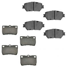 06 GS300; 09-13 IS250 Front & Rear Premium Posi Ceramic Disc Brake Pad Kit