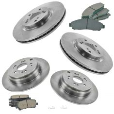 09-14 Honda Pilot Front & Rear Premium Posi Ceramic Disc Brake Pad & Rotor Kit