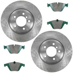 09-11 335d, 07-12 335i, 09-12 335i xDrive,11-13  335is, Front Premium Posi Ceramic Pads & Rotors