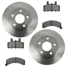 Nakamoto Ceramic Disc Brake Pads & Rotors Kit Ser for 90-93 Cadillac Deville, 90-92 Fleetwood