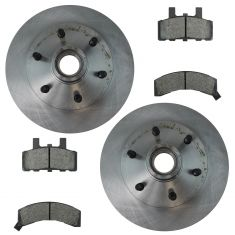 Nakamoto Ceramic Disc Brake Pads & Rotors Kit Ser for 95-98 C2500, 96-02 Express 2500, 96-02 Savana