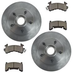 Nakamoto Ceramic Disc Brake Pads & Rotors Kit Ser for 79-81 Lemans, 79-81 Grand Prix,79-81Caballero