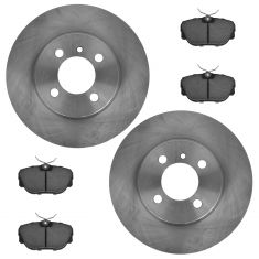 Front Ceramic Disc Brake Pads & Rotors Kit Set for,91 318i, 91-92 318ic,84-87 325e, 87-91 325i