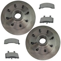 Front Premium Posi Ceramic Disc Brake Pads & Rotors Kit Set for 89-00 C2500, 88-94 C3500