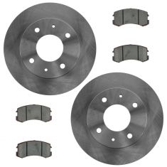 Front Premium Posi Ceramic Disc Brake Pads & Rotors Kit Set for 02-07 Mitsubishi Lancer