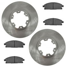 Front Premium Posi Ceramic Disc Brake Pads & Rotors Kit Set for 96-98 Nissan Pathfinder