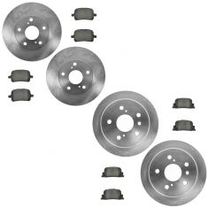 00-01 ES300; Camry Front & Rear Premium Posi Ceramic Brake Pad & Rotor Kit