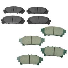 10-15 RX350; RX450h: 14-16 Highlander; 11-16 Seinna Front & Rear Premium Posi Ceramic Brake Pad Kit