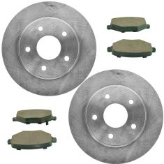 14-16 Town & Country, 13-16 Grand Caravan, 13-14 Ram,Rear  Premium Posi Ceramic Brake Pad & Rotors