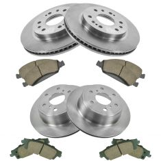15-16 Escalade, 15-16 Escalade ESV, 14-16 Silverado 1500 Front & Rear Rotor Set w/ posi ceramic Kit