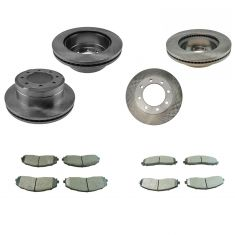13-16 F-250 SD, 13-16 F-350 Front & Rear Rotor Set w/ Posi Semi Metallic Pad Kit