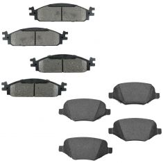 Ford Lincold Multifit Front & Rear Premium Posi Ceramic Disc Brake Pad Kit
