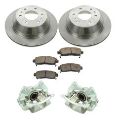02-09 Trailblazer NEW Rear Disc Brake Caliper, Ceramic Brake Pad & Rotor Kit