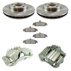97-03 Chevy Malibu NEW Front Disc Brake Caliper, Ceramic Brake Pad & Rotor Kit