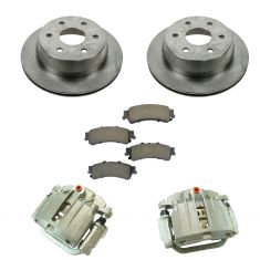 99-02 Siverado 1500 Tahoe NEW Rear Brake Caliper, Ceramic Brake Pad & Rotor Kit