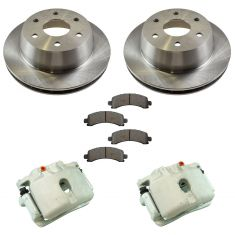 03-14 Express 1500 Tahoe NEW Rear Brake Caliper, Metallic Brake Pad & Rotor Kit