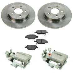 05-08 Chevy Cobalt NEW Rear Disc Brake Caliper, Ceramic Brake Pad & Rotor Kit