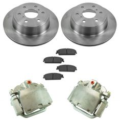 07-15 Silverado 1500 NEW Rear Disc Brake Caliper, Ceramic Brake Pad & Rotor Kit