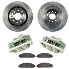 05-07 Ford 500, Freestyle NEW Front Brake Caliper, Ceramic Brake Pad & Rotor Kit