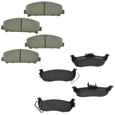 12-15 Armada; 11-15 Titan Front & Rear Ceramic Brake Pad Set