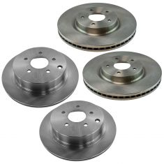 14-16 JX35, 14-16 Q50, 14-16QX60, 15-16 Murano, 13-15 Pathfinder Front & Rear Disc Brake Rotor Set
