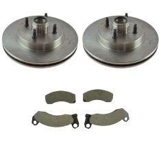 87-93 Ford Mustang Front Semi Metallic Brake Pads &  Brake Rotor  Kit