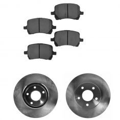 06-07 Chevy HHR; 08-11 HHR (w/Rear Drum) Front Premium Posi Metallic Brake Pads & Rotor Kit