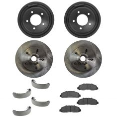 97-99 2WD F150 Front & Rear Posi Ceramic Pad, Rotors, Drums & Shoes