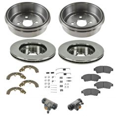 93-97 Corrla, Prizm Front & Rear Ceramic Brake Pad, Rotor, Shoe, Drum, Hardware & Cylinder Kit