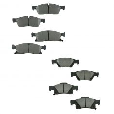11-16 Jeep Grand Cherokeel; Dodge Durango Front & Rear Premium Posi Ceramic Disc Brake Pad Kit