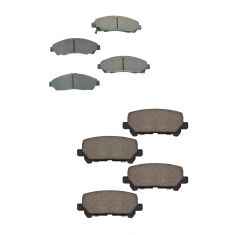09-16 Honda Pilot Front & Rear Premium Posi Ceramic Disc Brake Pad Kit