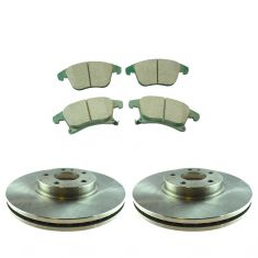 2014 Ford Fusion Front Posi Ceramic Brake Pad & Rotor Kit