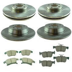 2013-16 Ford Fusion Front & Rear Posi Ceramic Brake Pad & Rotor Kit