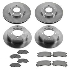 01-05 Sebring, 01-05 Eclipse, 01-03 Galant, Front & Rear Metallic Brake Pad & Rotor Kit