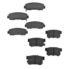 07-12 RDX 2WD; 07-11 CR-V; 10-12 Crosstour Front & Rear Premium Posi Ceramic Disc Brake Pads