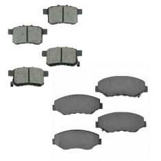 08-12 Honda Accord 2.4L exc. EX Front & Rear Premium Posi Ceramic Disc Brake Pad Kit