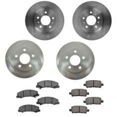 11-13 Impala Front & Rear Semi Metallic Brake Pad & Rotor Kit