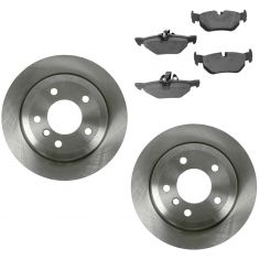 07-13 328i, 09-12 328ixDrive, 07-08 328 xi 13-14 X1 Rear Premium Posi Ceramic Brake Pads & Rotor Kit