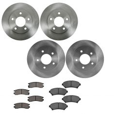 00-05 LeSabre, 04-05 Bonneville, Front & Rear Posi Ceramic Brake Pad & Rotor Kit