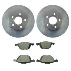 13-16 C-Max; 12-16 Focus Front Premium Posi Semi Metallic Brake Pad & Rotor Kit