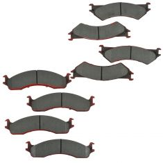 99-07 E250, E350; Front & Rear Premium Posi Ceramic Disc Brake Pad Kit