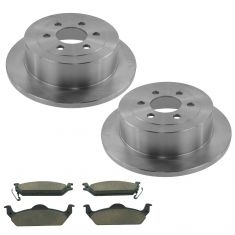 03-04 Dodge Dakota Rear Premium Posi Ceramic Disc Brake Pads & Rotor Kit