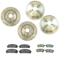 10-15 RX350; RX450h 11-16 Highlander Front & Rear Ceramic Pad & Rotor Kit