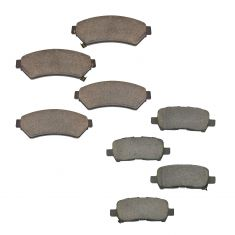 05-08 Allure; 05-08 LaCrosse; 05-08 Grand Prix Front & Rear Premium Posi Ceramic Disc Brake Pads