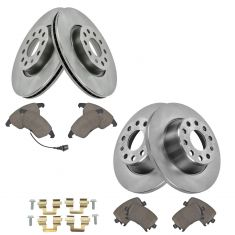 VW Audi Multifit Front & Rear Premium Posi Ceramic Disc Brake Pad & Rotor Kit